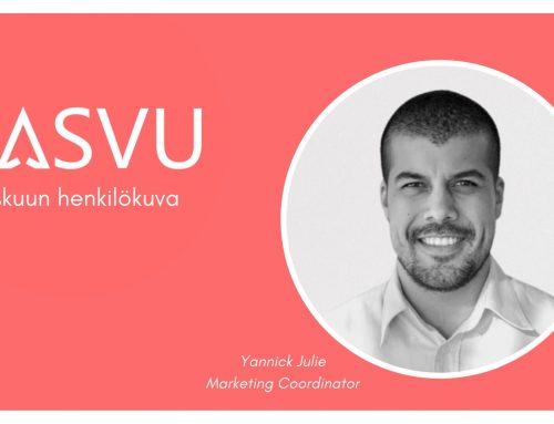 Syyskuun henkilökuva: Qasvun Marketing Coordinator Yannick Julie