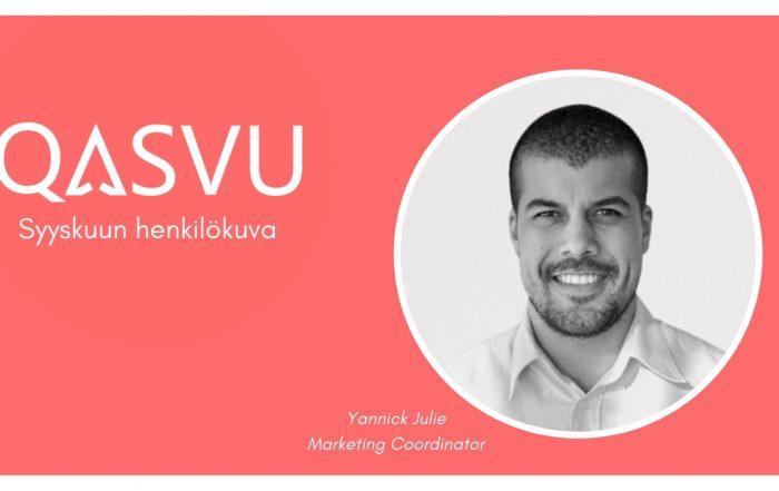 Qasvu Marketing Coordinator Yannick Julie